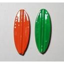 TRUTTA 8g bred model orange/grøn