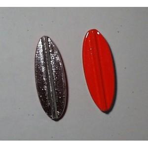 TRUTTA  8g Bred model sølv/rød